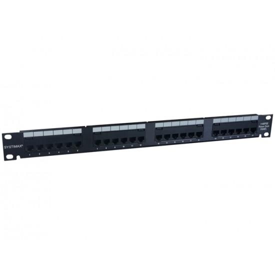 PATCH PANEL SYSTIMAX 24P 1U BLACK