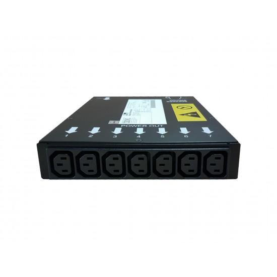 PDU 7-OUTLETS IBM 37L6864, 7XC13, 220-240V, 1PH, 15A, 1U