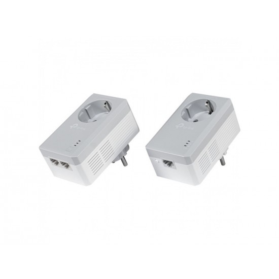 TP-LINK AV600 2-PORT POWERLINE STARTER KIT V4 TL-PA4022P NEW