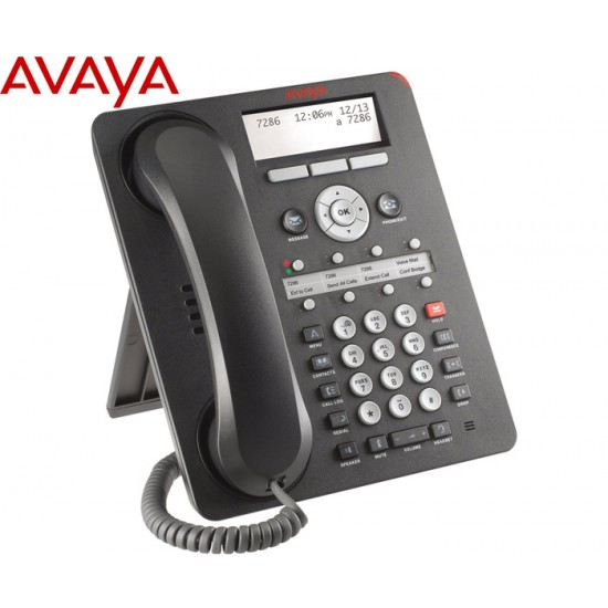 IP PHONE AVAYA 1608 GRADE A-/WITH HANDSET/WITH BASE/POE