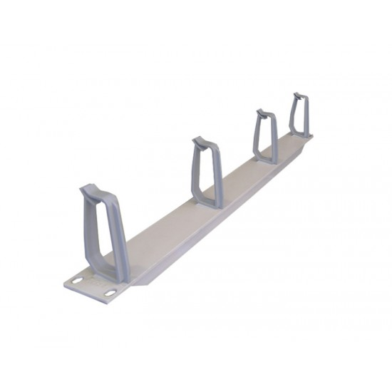 CABLE MANAGER R&M 1U 4 HOOK GRAY PLASTIC