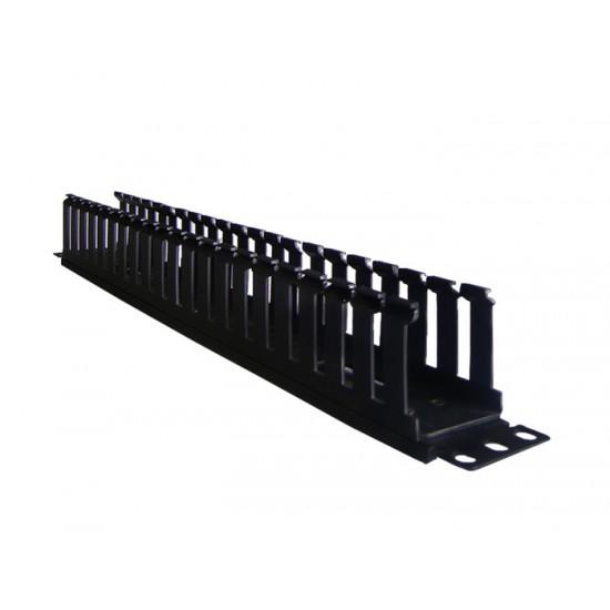 CABLE MANAGER PANDUIT 1U CABLE CROSS HOOK BLACK PLASTIC