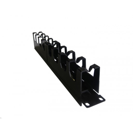 CABLE MANAGER SIEMON 1U CABLE CROSS HOOK BLACK METAL/PLASTIC