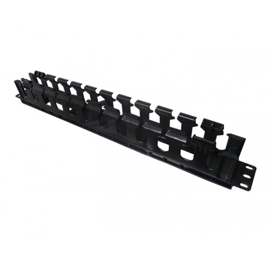 CABLE MANAGER PANDUIT 1U CABLE CROSS HOOK BLACK PLASTIC