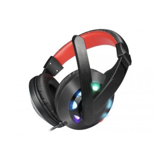 HEADSET MISDE A65 RGB USB STEREO BLACK RED W/MICROPHONE NEW