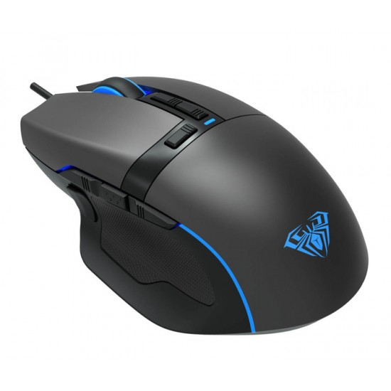 MOUSE AULA F808 RGB WIRED USB BLACK NEW