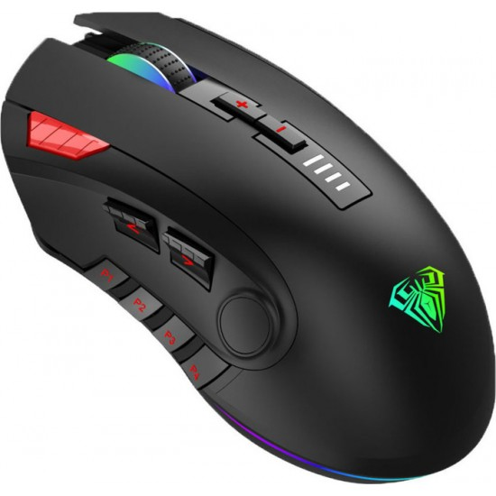 MOUSE AULA H512 RGB WIRED USB BLACK NEW