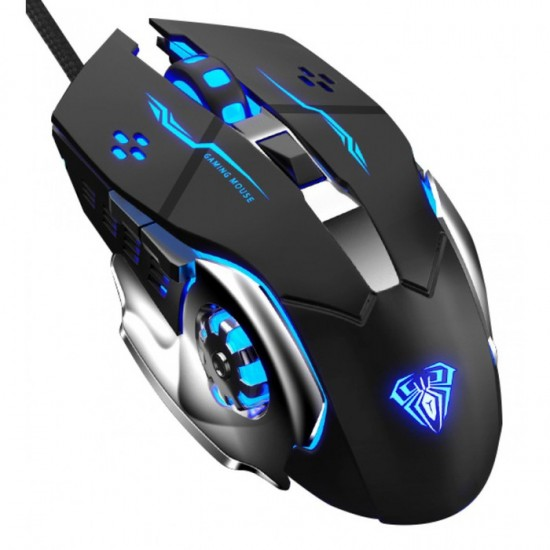MOUSE AULA S20 RGB WIRED USB BLACK NEW