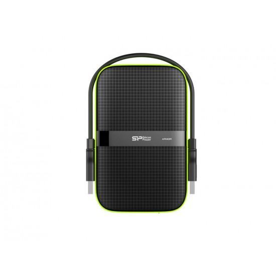 EXTERNAL HDD 1TB SP ARMOR A60 USB 3.2 BLACK/GREEN NEW